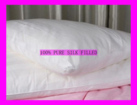 Wholesale Cotton Filling Pillow - Pure Mulberry Silk Filled Pillow Cotton Cover 1PC 1KG 1.5KG One Seat