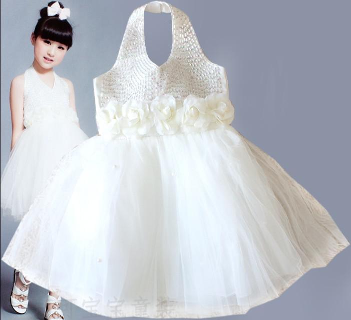 Flower girl wedding dress princess dress kids dress white colors flower girl wedding dress princess dress kids dress white colors child toddler size nice costumes junglespirit Images