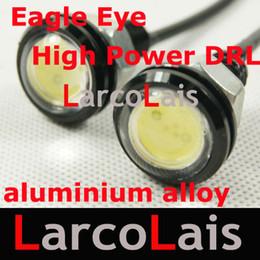 Wholesale Super Bright Led Reverse Lights - 2x3W LED Daytime Eagle Eye Light White Super Bright Reversing Backup High Power Lamp DRL Aluminum Alloy