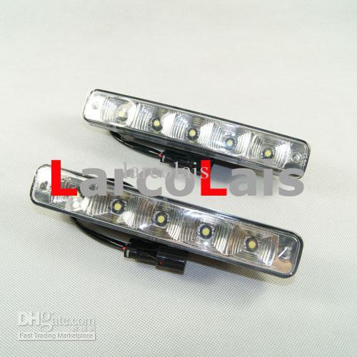 50 SÄTZE 2x5 LED High Power 10 Watt 12 V DRL Weiß Auto Kopf Lichter Tagfahrlicht Foglight Lampe