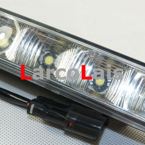 2x5 LED 높은 전력 10W 12V DRL 화이트 자동차 헤드 조명 낮 실행 빛 Foglight 램프