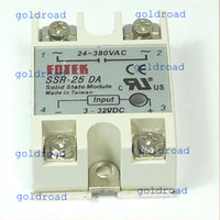 Wholesale Dc Ssr - Freeshipping N SSR 25A Solid State Relay 3-32V DC 24-380V AC Control