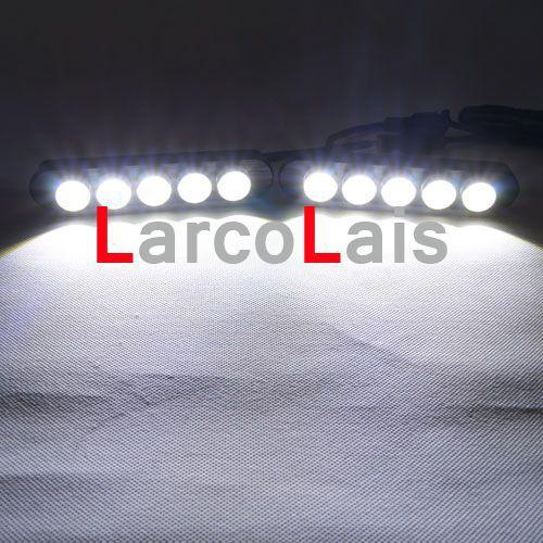 2x5 LED Weiß Eagle Eye Tagfahrlicht DRL Wasserdichte Schwanz Backup Rückfahrleuchte