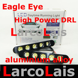 Wholesale High Power Drl Led Light - 2X5 LED 10W High Power Waterproof White Eagle Eye Daytime Running Light DRL for Car aluminium alloy