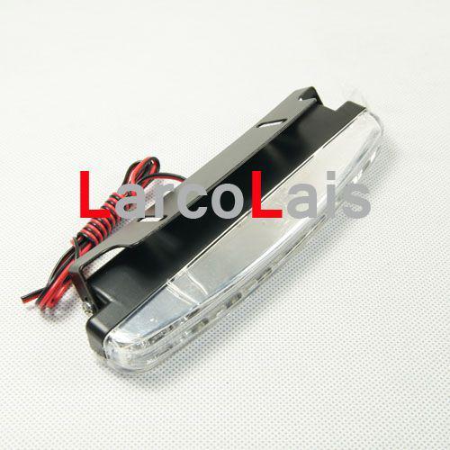 2x8 LED 8LED High Power DRL Weiß Auto Auto Kopf Lichter Tagfahrlicht Foglight Lampe