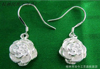 Wholesale China Peony Flower - Earrings Bodyjewelry Low-cost supply of 925 Silver Earring Small Peony Flower Pendant Silver Jewelry