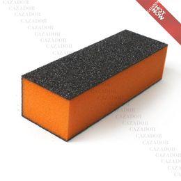 Wholesale Sandpaper Free Shipping - Hot Brand New Sponge Sandpaper Buffer Sanding Block 3-Sided Files Nail Art Tool B006 Free Shipping