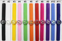 Wholesale Snap Watches For Kids - 50pcs Snap Slap Watch Silicone Candy Jelly Watches Fashion slap for Children and Kids with ss.com