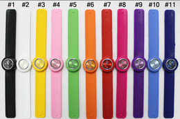 Wholesale Silicone Slap Watch For Children - 50pcs Snap Slap Watch Silicone Candy Jelly Watches Fashion slap for Children and Kids with ss.com