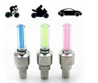 Wholesale Neon Tyres - 200pcs lot # Bicycle Bike LED Light Car Light Tyre Wheel Light Neon Lamp 4 Colors