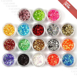 Glitter acrylics nails online shopping - The Colored Nail Art Tiny Hexagon Glitter Paillette Powder Spangles Decoration For UV Nail In Acrylic Box G008