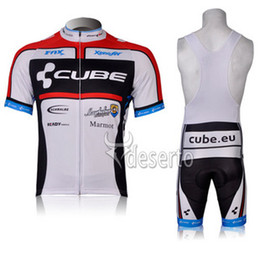 Wholesale Cube Cycling Set - CUBE Ropa Ciclismo Pro Men's Short Sleeve Cycling Jersey Set. Breathable Mountain Bike Clothes Bicycle Sportswear. Gel Pad. XXS - 4XL.