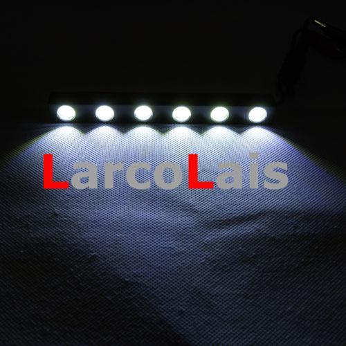 2X6 LED 12W Wasserdicht Weiß Eagle Eye Auto Tagfahrlicht DRL Scheinwerfer Nebel Aluminiumlegierung