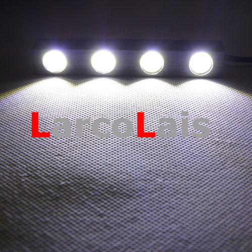 2X4 LED 8W 12V imperméable à l'eau blanche lumière courante diurne de voiture de Eagle Eye DRL inverser l'alliage d'aluminium de brouillard