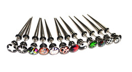 Wholesale Fake Ear Tapers - Newest Fake Ear Expander Piercing Taper 16G Different Logos Design 316L stainless Steel Hot Sale