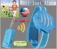 Wholesale Pet Kids Safety Wristband - 10pcs Anti Lost Alarm fish Wristband For Kids Child Pet theft Safety key chain finder