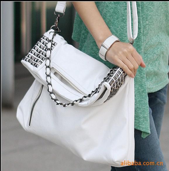 Korean Style Shoulder Bags Lady Hobo Pu Leather Handbag Shoulder ...
