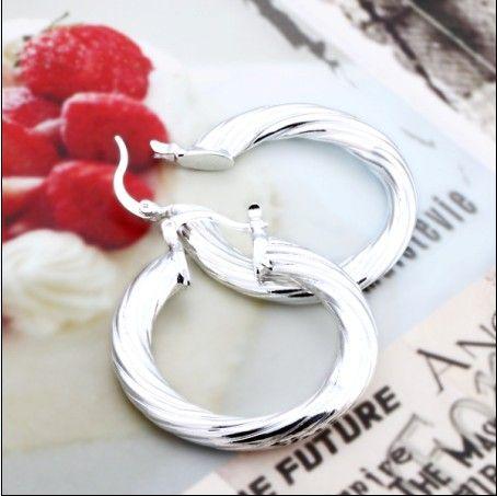Top qualité 925 argent cerceau boucles d'oreilles mode bijoux classiques pour femmes cadeau de Noël livraison gratuite /
