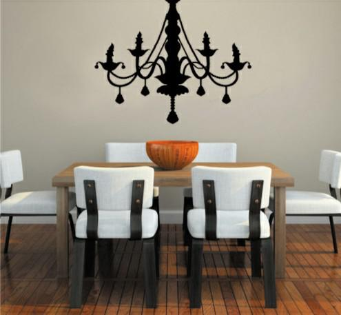 Wholesale Removable Chandelier Wall Stickers Wall Art Wall Decals Decor Living  Room Decoration Large Vinyl Wall Decals Large Wall Art Decals From ...