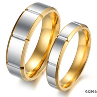 Wholesale Good Quality Couples Rings - lovers jewelry Newest Tungsten Ring Golden Color High Quality Good-looking Fashionable Jewelry free shipping