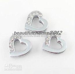 Venta al por mayor 8mm 100 unids medio de diamantes de imitación encanto accesorios en venta