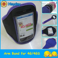 Wholesale Mobile 4g Band - 4G arm band HOT design mobile phone 4GS armband Gym pouch sport clamp cover clip case skin bracket