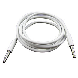 Jack chinese car online shopping - 3 mm Jack AUX Stereo Audio Cable Cord Car Extension Adapter White For iPhone S7 S8 cellphone Speaker