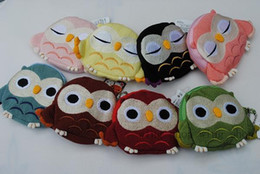 Wholesale Kids Owl Purses - Free shipping children Kids Handmade Crochet Cute Owl Design Handbag Purse Bag cute coin bags wallet