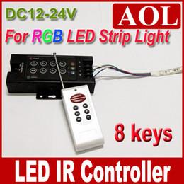 $enCountryForm.capitalKeyWord Canada - Free shipping High Power 12-24V 8 Keys LED IR Remote Controller for SMD 3528 5050 RGB LED Strip light