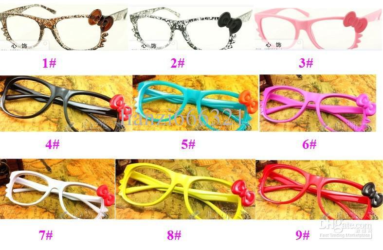 Guay !! Hot New Brand Bow Style Glasses Frame Lovely Fashion Fashion Gafas de sol Marcos Accesorios de moda Envío gratis