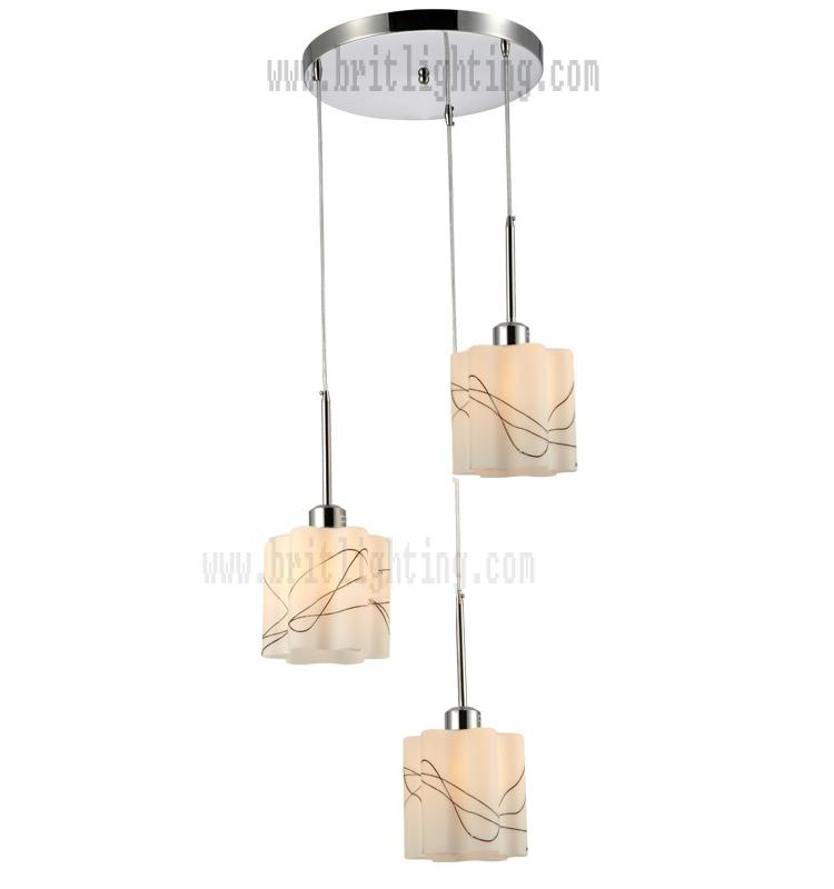 cheap modern pendant lighting. Material: Polish Chrome Metal With Silk Style Glass Cheap Modern Pendant Lighting M