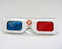 Wholesale Red Cyan Glasses - disposable Red Cyan paper 3D glasses with visual shock 100% 3D visual effect !! Free shipping 100pcs