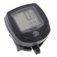 Wholesale Wireless Black Bike Computer - Black Wireless LCD display Computer Cycle Bicycle Bike Meter Speedometer Odometer H8006