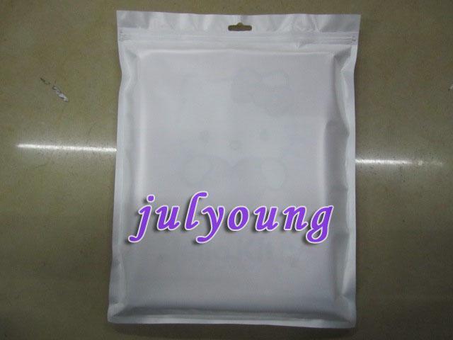 Fermuar Plastik Perakende çanta Paketi ambalaj Apple Ipad 2 3 Ipad2 masa TPU kılıf kılıfları için 50 adet