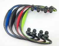 auricular bluetooth inalámbrico azul al por mayor-Auriculares inalámbricos bluetooth deportes auricular negro rojo azul verde para celular