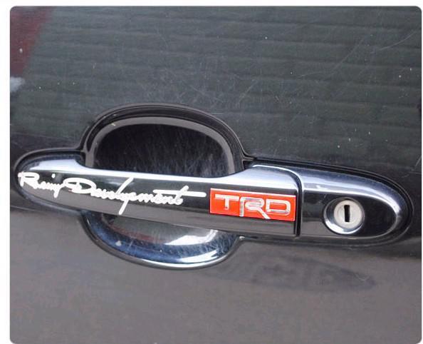 50PR/lot Soft PVC Handle Cool car sticker Decal TRC Car Emblem Eadge Cheap Funny Stickers On Car