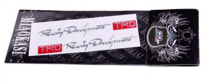 50PRSoft PVC Handle Cool car sticker Decal TRC Car Emblem Eadge Cheap Funny Stickers On Car