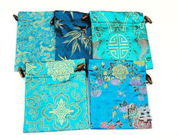 Wholesale Silk Gift Pouches Large - Elegant Fancy Large Gift Bags China style High Quality Bunk Silk Brocade Drawstring Candy Storage Tea Packaging Pouch Festive Birthday Party