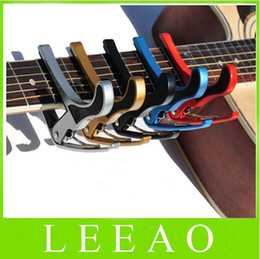 Wholesale metal tights - 80pcs lot # Quick Change Trigger Key Guitar Capo Guitar Strings Clamp Tight Acoustic Electric Guitar Free Shipping