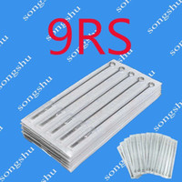 Wholesale Round Shader Needles - 50pcs Of 9RS Tattoo Sterile Needles Tattoo Kits Supply Professional Round Shader Size Needle