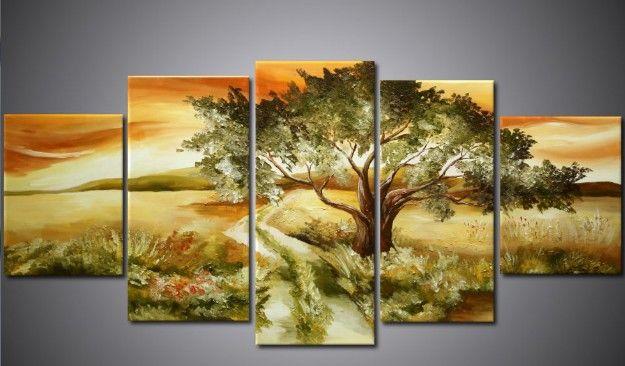 África paisaje de la lona pintura al óleo del camino Arte arte de alta calidad hecha a mano la pared de la decoración del hogar moderno Nueva