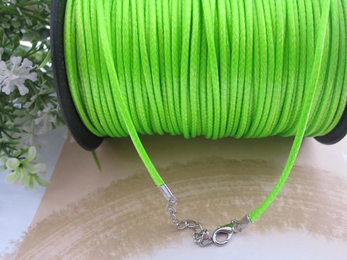 2.0mm 17-19 polegada ajustável cor sortida (15 cores) coréia cobra corda colar de cordão 100 pçs / lote