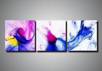 ingrosso telai di pittura ad olio brillante-set di tela d'arte a mano 3 brillanti dipinti ad olio su tela all'ingrosso dipinti d'arte moderna divano scenografia