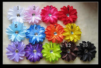 """Wholesale Tropical Grasses - 13 Colors 4"""" Tropical 4 layerLily Flower Children's Hair Accessories Girls Head Flower Clip"""