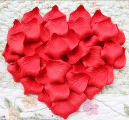 Pétalas roxas para decorações de casamento on-line-1000 pcs Vermelho / Rosa / Roxo de seda pétalas de rosa pétala de casamento favores decoração do partido