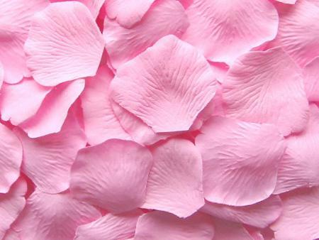 10 sacs de soie rose pétale de pétales de pétales de mariage décoration de fête