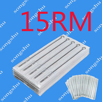 Wholesale Top Quality Tattoo Needles - 50pcs Of 15RM Tattoo Supply Sterile Needles Round Magnum Size Needle Top Quality