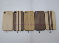 Wholesale Wood Iphone 4s Cases - Real Natural Wood Wooden Bamboo Case Cover Shell with OPP Bag for Apple iphone 6G 6 Plus 6+ 5 5S 5C 4S 4G 4