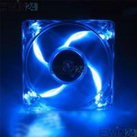 Wholesale Computer Cooling Fan Blue - 2015 new hot sale high quality Computer PC Blue LED Neon Fan Heatsink Cooler 12V 150pcs