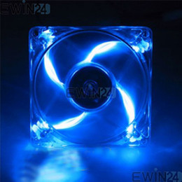 Wholesale Blue Led Fan Case - 2015 new hot sale high quality Computer PC Blue LED Neon Fan Heatsink Cooler 12V 150pcs